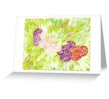 circular roses and leaves Greeting Card