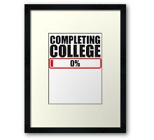 Completing College 0 per cent % progress bar Framed Print