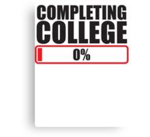 Completing College 0 per cent % progress bar Canvas Print