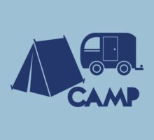 CAMP with tent and a campervan T-Shirt