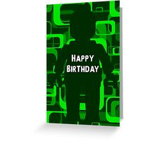 Retro Minifig Art Happy Birthday Greeting Card