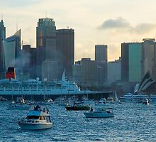 Queen Elizabeth II - Sydney Harbour by Steve Grunberger