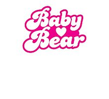 Baby bear in pink! cutie! Photographic Print