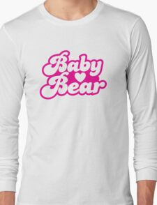 Baby bear in pink! cutie! Long Sleeve T-Shirt