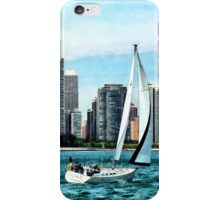 Chicago IL - Sailboat Against Chicago Skyline iPhone Case/Skin