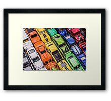 Toy Cars - Bumper to Bumper Framed Print