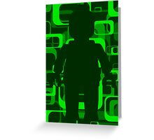 Retro Minifig Art  Greeting Card