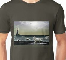 By the Light of the Silvery Moon - Roker Pier & Lighthouse Unisex T-Shirt