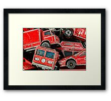 Toy Cars - Red Framed Print