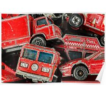 Toy Cars - Red Poster