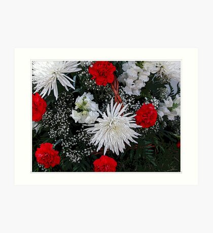 Basket Of Holiday Flowers Art Print
