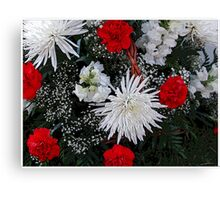 Basket Of Holiday Flowers Canvas Print