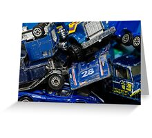 Toy Cars - Blue Greeting Card