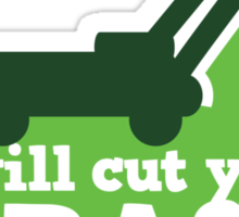 I will cut your GRASS with lawn mower Sticker