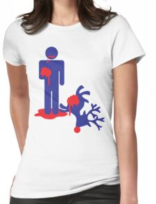 Zombie man eating Rudolph the reindeer an Alternative Christmas idea Womens Fitted T-Shirt