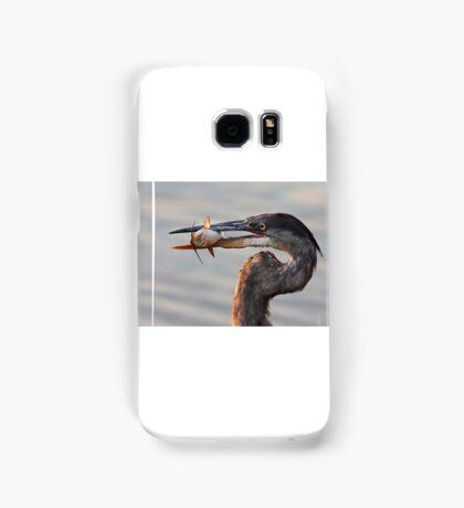 A fresh catch - Great Blue Heron Samsung Galaxy Case/Skin