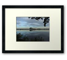 Serenity - fishing lake in Hungary Framed Print