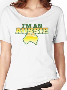I'm an AUSSIE! with Australian map  Women's Relaxed Fit T-Shirt