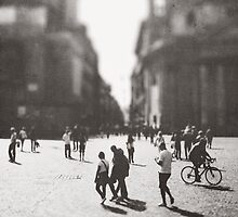 People are walking in Roma, Italy by Olja Merker