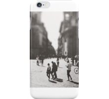 People are walking in Roma, Italy iPhone Case/Skin