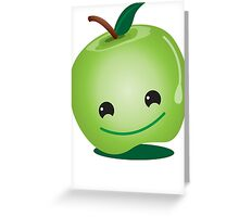 Apple green cutie funny face Greeting Card