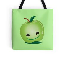 Apple green cutie funny face Tote Bag