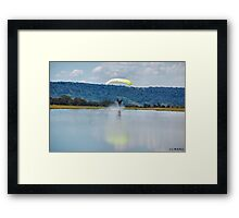 Tripping on water. Framed Print