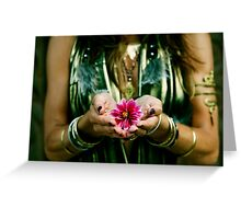 SACRED OFFERING Greeting Card