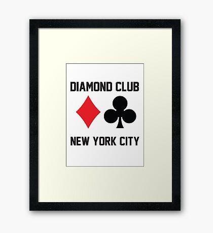 Diamond Club NYC Underground Poker Room Framed Print