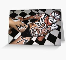 body art with Rene  Greeting Card