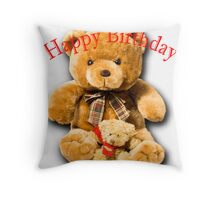 Birthday Bears Throw Pillow