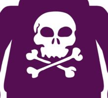 Minifig with Skull Design Sticker