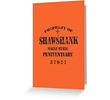 Shawshank Prison Greeting Card