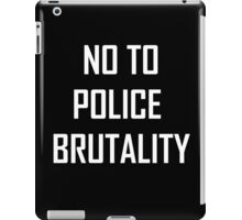 police brutality  iPad Case/Skin