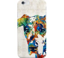 Colorful Great Dane Art Dog By Sharon Cummings iPhone Case/Skin