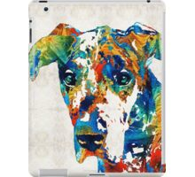 Colorful Great Dane Art Dog By Sharon Cummings iPad Case/Skin
