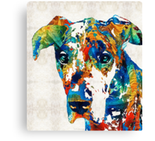 Colorful Great Dane Art Dog By Sharon Cummings Canvas Print
