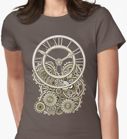 Stylish Vintage Steampunk Timepiece Vintage Style Womens Fitted T-Shirt