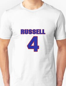 Basketball player Campy Russell jersey 4 T-Shirt