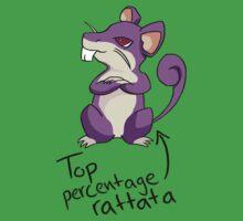 Top Percentage Rattata One Piece - Short Sleeve