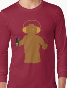 Minifig with Headphones & iPod  Long Sleeve T-Shirt