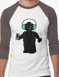 Minifig with Headphones & iPod Men's Baseball ¾ T-Shirt