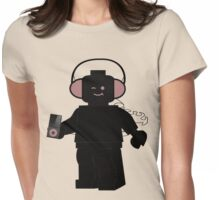 Minifig with Headphones & iPod Womens Fitted T-Shirt