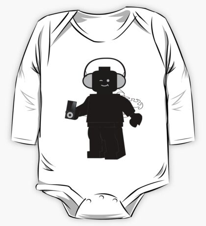Minifig with Headphones & iPod One Piece - Long Sleeve