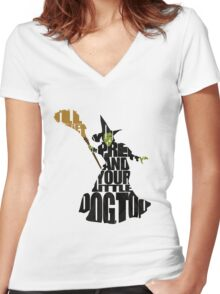 Wicked Witch Of The West Women's Fitted V-Neck T-Shirt