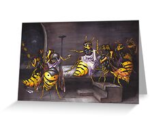 The Death of a Wasp Greeting Card