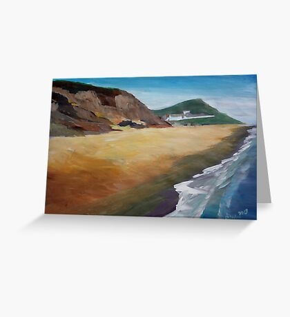 Irish Coast Near County Wexford Greeting Card