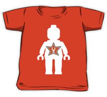 White Minifig with Customize My Minifig Logo Kids Tee