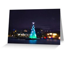 Geelong Floating Christmas Tree Greeting Card