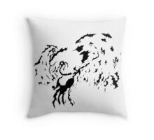 Tribal Phoenix - Black Throw Pillow